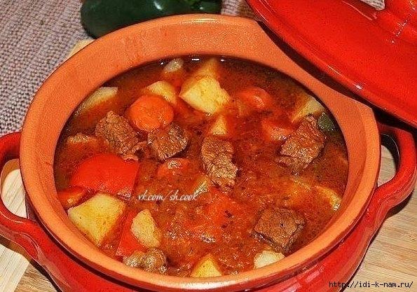 как готовить в горшочке, что можно приготовить в горшочке. рецепты блюд в горшочке, как приготовить мясо в горшочке, рецепт мяса в горшочке Хьюго Пьюго,