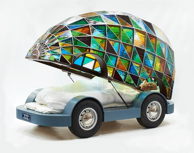 автомобиль кровать дизайнера Доминика Вилкокса 2 (680x537, 409Kb)