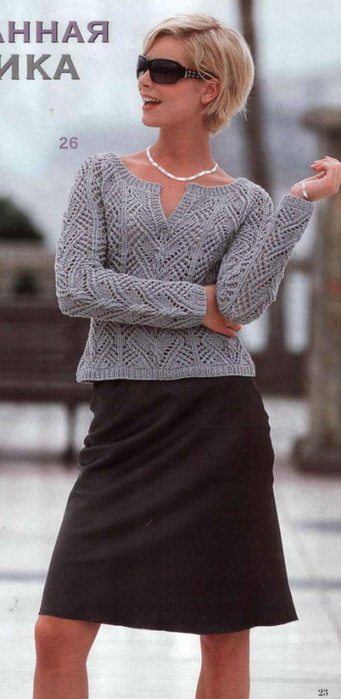 пуловер спицами 1 (341x700, 203Kb)