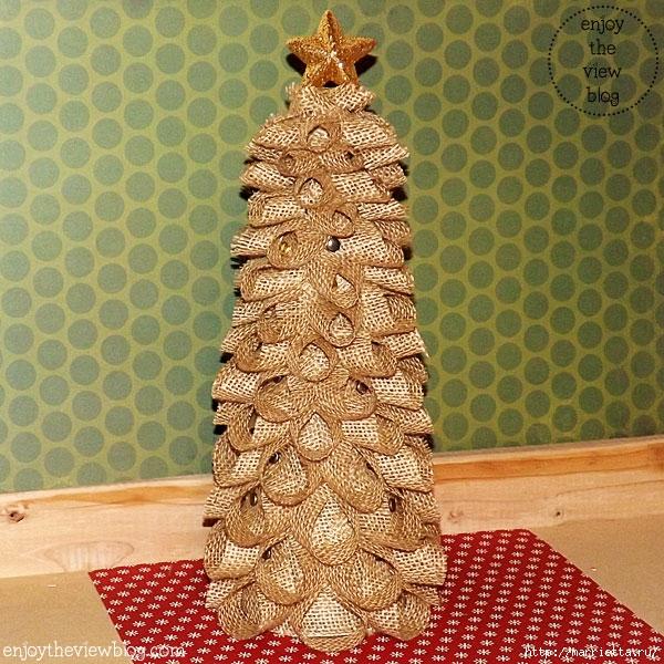 Новогодние елки из мешковины (1) (600x600, 326Kb)