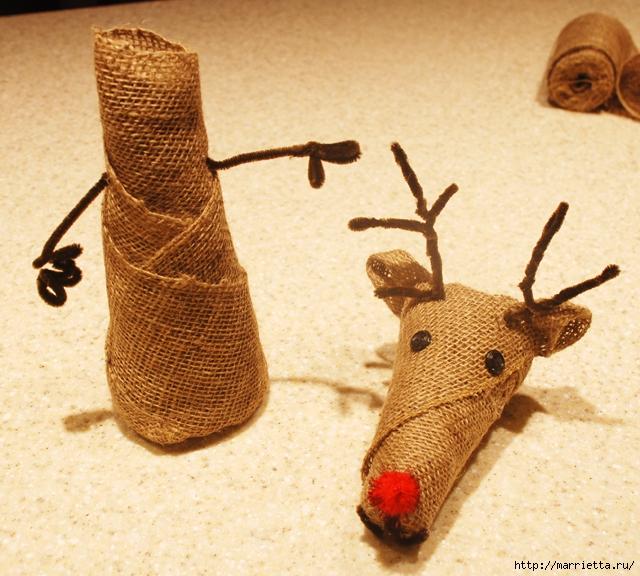 Рождественские олени из мешковины (28) (640x576, 321Kb)