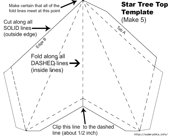 СЏStar Tree Top Template (700x567, 135Kb)