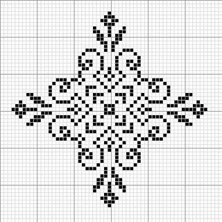 Рисунки снежинок для вышивки