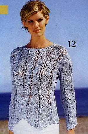 пуловер спицами (300x455, 176Kb)