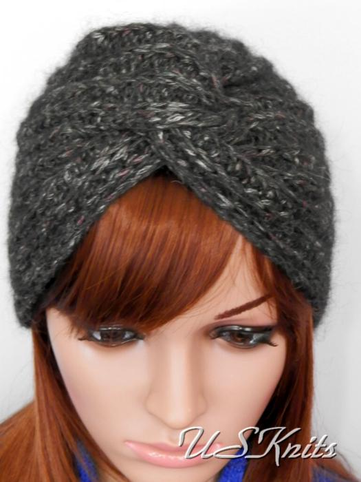 теплая вязаная шапка - Самое