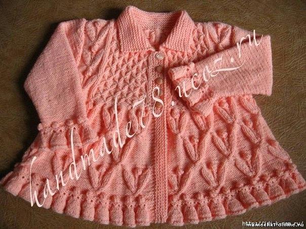 вязаное пальтишко для девочки, как связать пальто для девочки, вязание девочкам до 2-х лет,  схема вязания пальто для маленькой девочки,