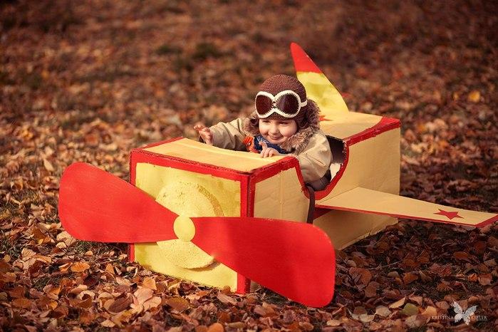 Самолет для фотосессии своими руками