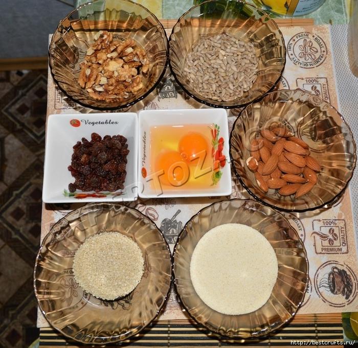 Очень вкусный рецепт творожного печенья с орехами и семечками (4) (700x681, 443Kb)