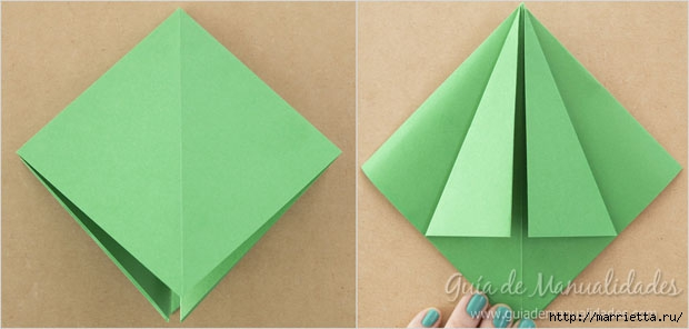 Новогодние елочки из бумаги в технике оригами (4) (620x296, 81Kb)