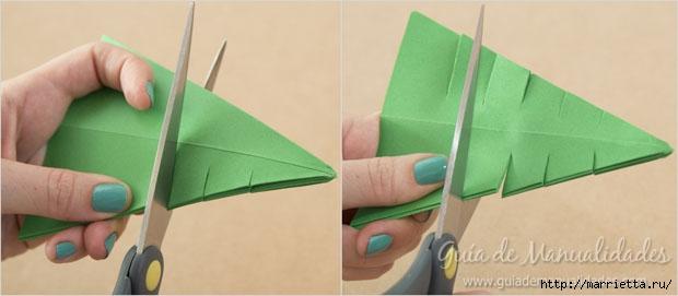Новогодние елочки из бумаги в технике оригами (8) (620x271, 75Kb)