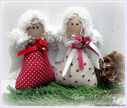 Текстильные игрушки на елку