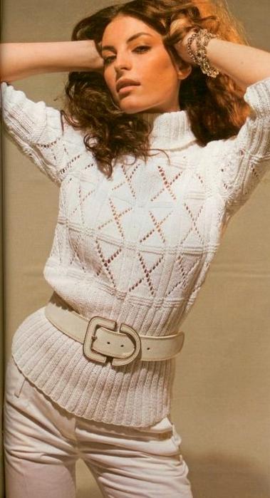пуловер спицами (379x700, 253Kb)