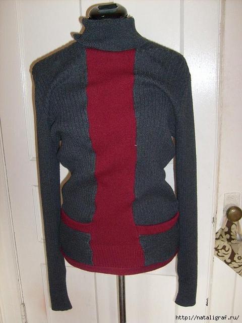 Куртка из старых свитеров своими руками 49