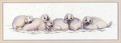 Схемы вышивки крестом морские котики