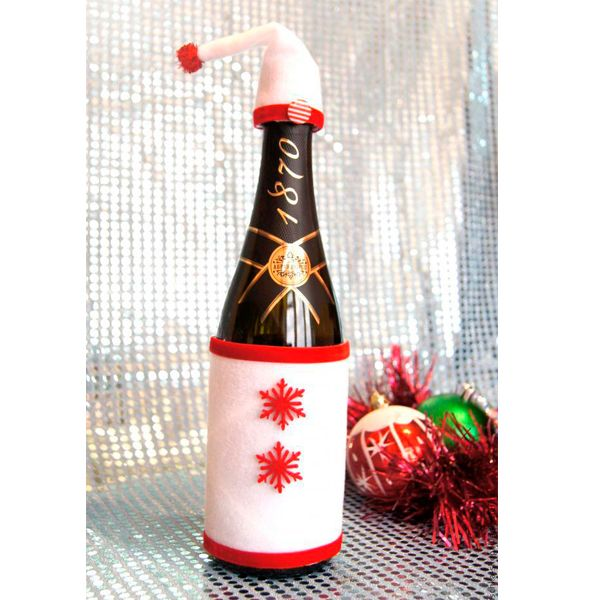 Как украсить шампанское на новый год своими руками фото