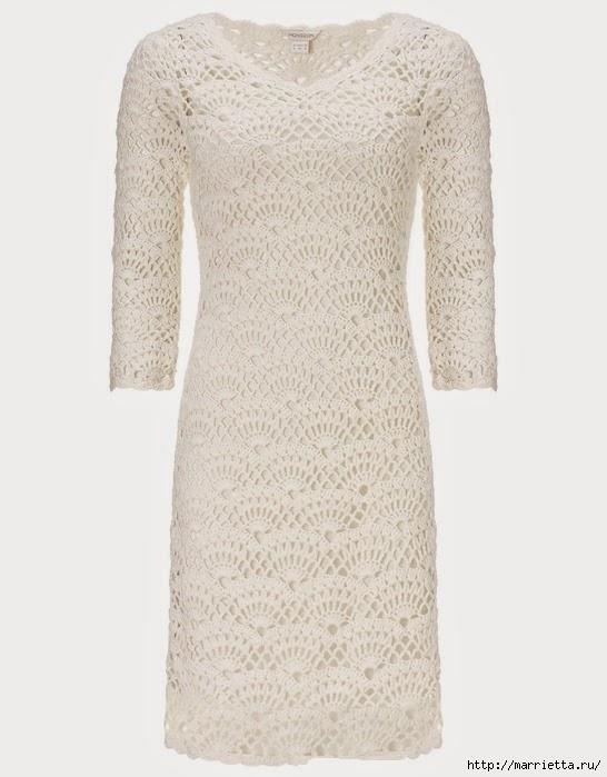 Вязание крючком. Платье на подкладке (3) (546x699, 154Kb)