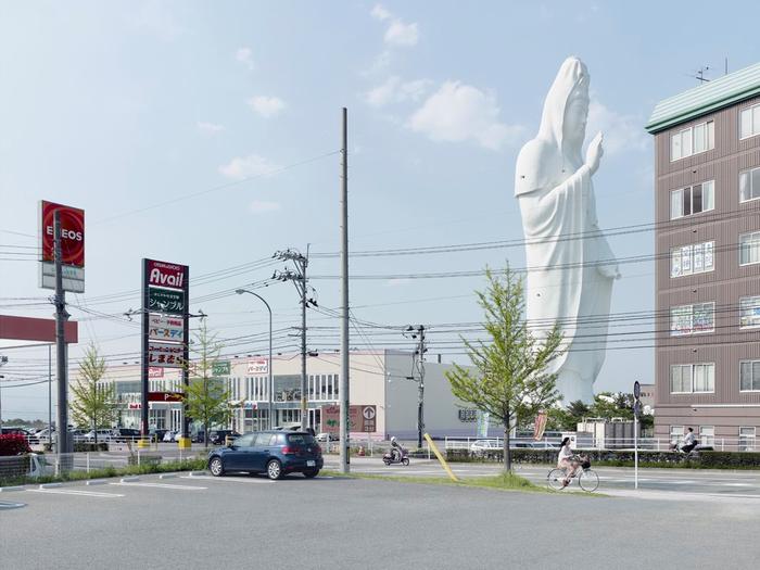 гигантская статуя бодхисатвы Авалокитешвыары в японии 2 (700x525, 300Kb)
