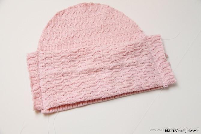 шапочки из свитеров8 (670x446, 139Kb)