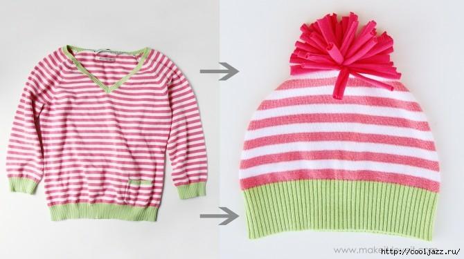 шапочки из свитеров12 (670x375, 141Kb)