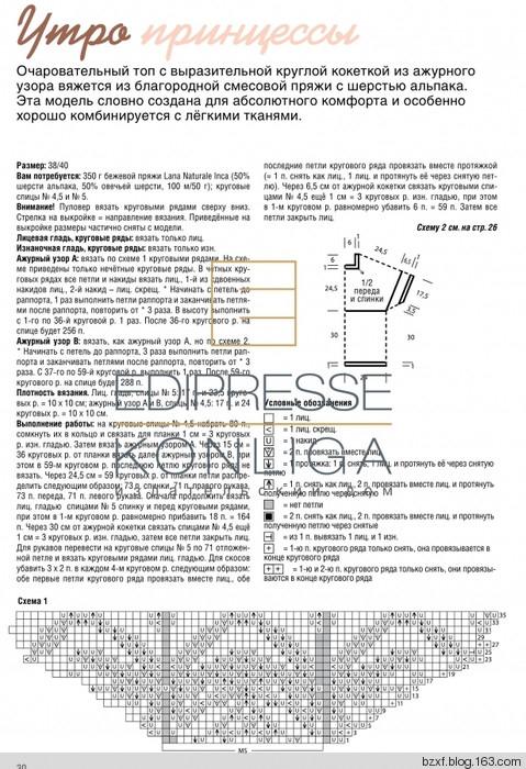 Схемы с описанием вязания кокеток спицами 423