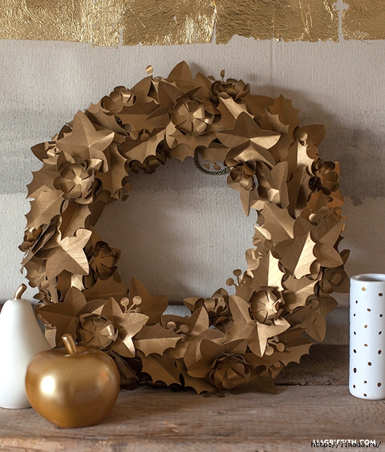 Gold_Paper_Holiday_Wreath (560x658, 342Kb)