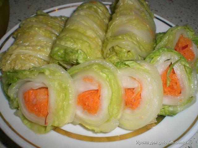 блюда с пекинской капустой