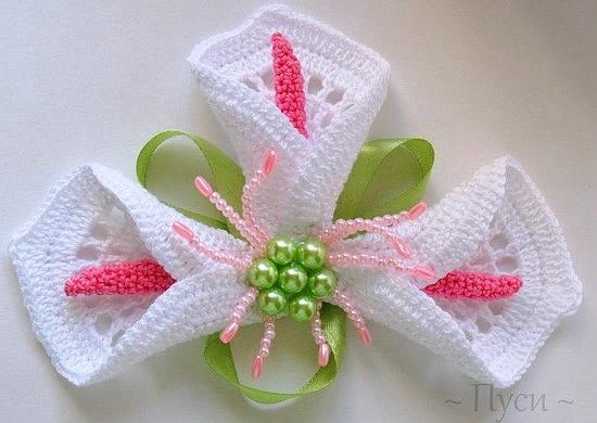 Вязание крючком видео цветок калла