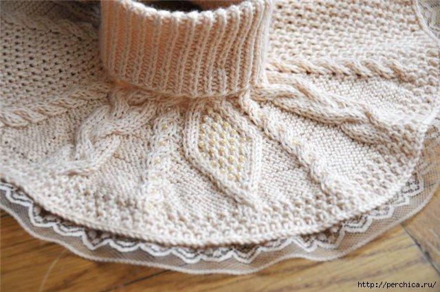 Для вязания манишки нужно