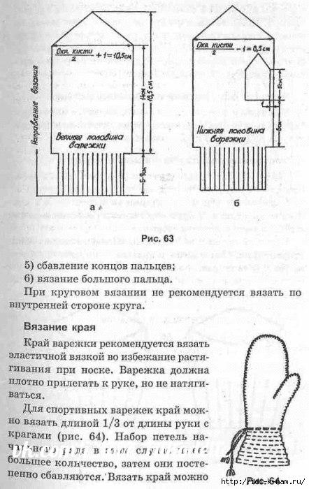 как связать варежки, вязаные варежки с ажурным краем, схема вязания варежек, как связать руковички, схема вязания руковиц, Вязаные руковицы от Хьюго Пьюго,