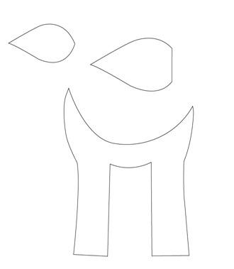 выкройка олененка бэмби (3) (330x379, 16Kb)