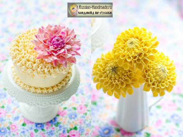 Георгины. Лепка для торта из сахарной мастики (1) (640x480, 574Kb)