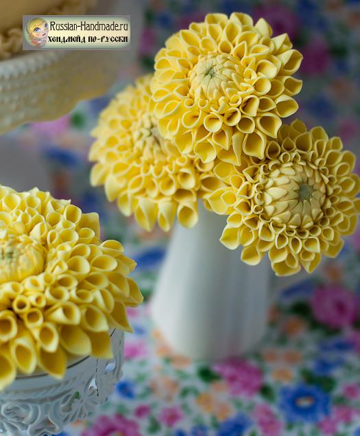 Георгины. Лепка для торта из сахарной мастики (5) (525x635, 679Kb)