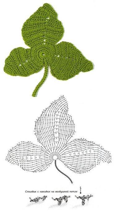 схемы листиков крючком (30) (388x700, 154Kb)