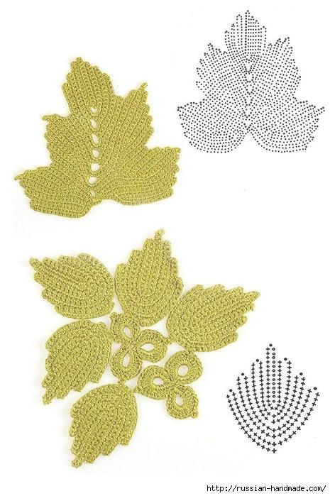 схемы листиков крючком (42) (465x700, 215Kb)