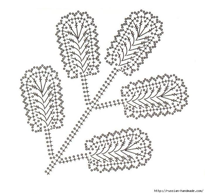 схемы листиков крючком (68) (700x661, 269Kb)