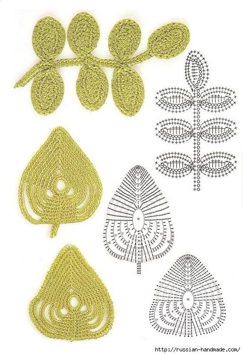 схемы листиков крючком (71) (480x700, 259Kb)