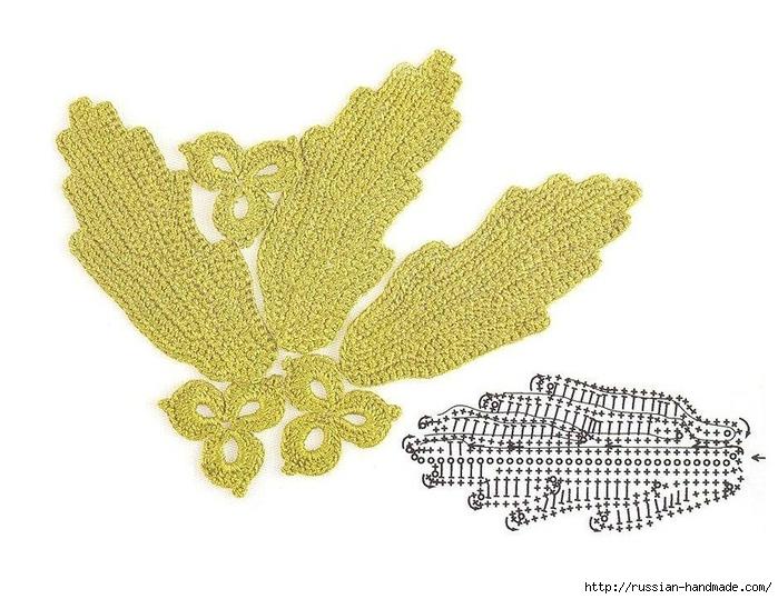 схемы листиков крючком (73) (700x539, 229Kb)