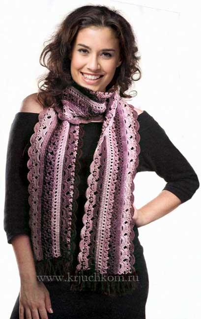 Милый ажурный шарф внесет