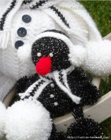 Вязание забавных снеговиков крючком (15) (444x562, 144Kb)
