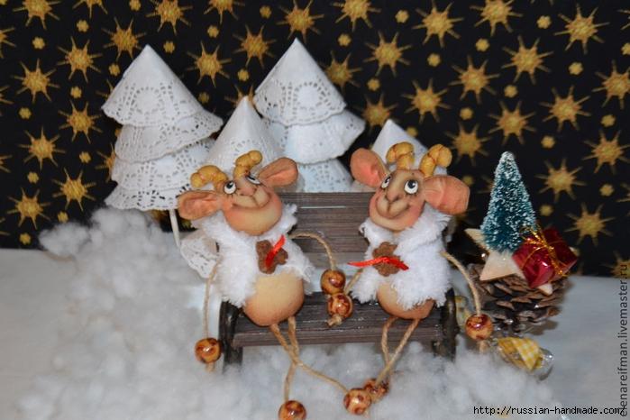 Новогодняя кофейная овечка - шьем сувенир к Новому году (3) (700x466, 248Kb)