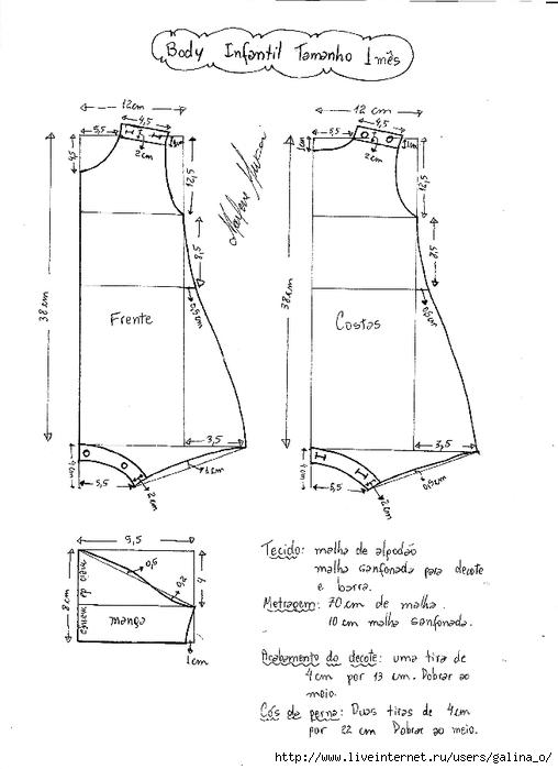 Выкройка песочника для девочки 68 размер
