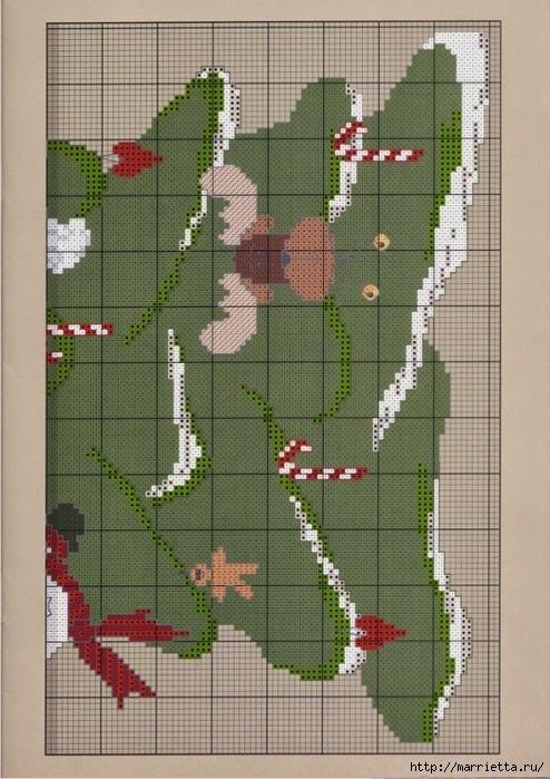Вышивка елочки для новогодних мешочков (3) (494x700, 295Kb)