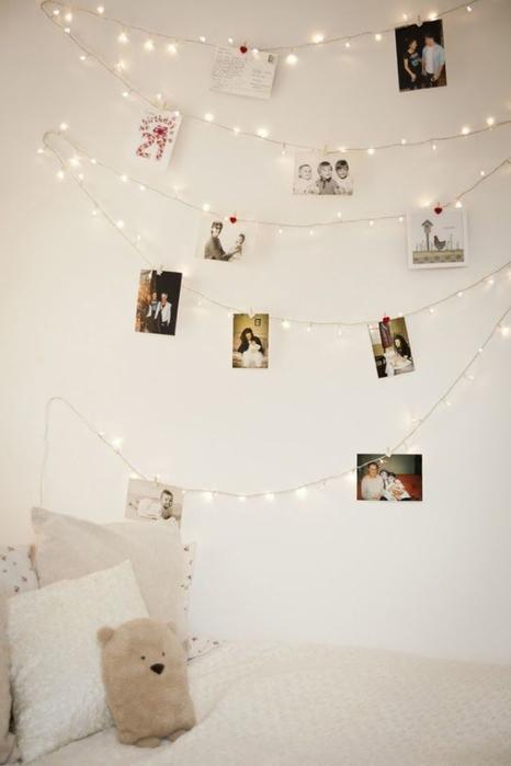 White christmas lights for bedroom