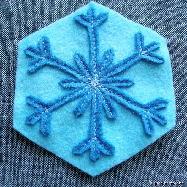 Снежинки из фетра. Шьем сами (9) (630x630, 339Kb)