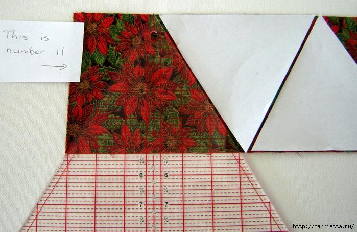 текстильная подвеска елочка в технике оригами (5) (700x454, 306Kb)