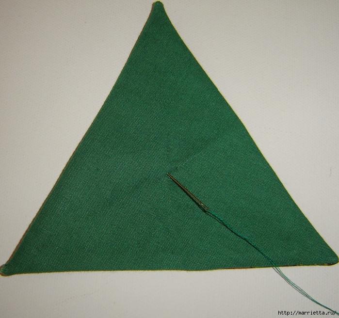 текстильная подвеска елочка в технике оригами (9) (700x656, 353Kb)