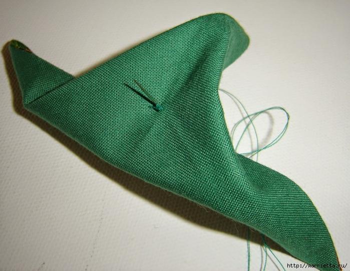 текстильная подвеска елочка в технике оригами (12) (700x543, 289Kb)