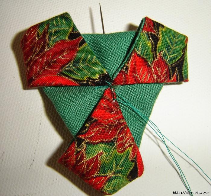 текстильная подвеска елочка в технике оригами (14) (700x649, 428Kb)