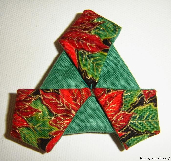 текстильная подвеска елочка в технике оригами (15) (700x661, 377Kb)