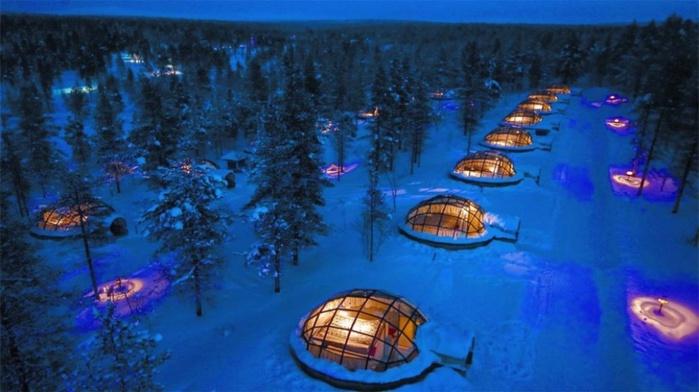 Отель Kakslauttanen, Финляндия (700x392, 99Kb)